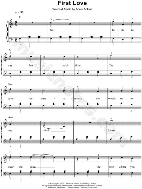 Adele Easy Piano Sheet Music Free