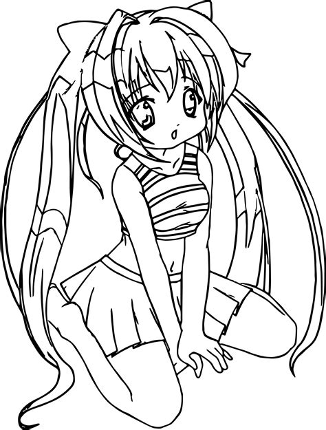 Anime Girl Student Coloring Page Wecoloringpage com