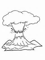 Volcano Vulkan Ausdrucken sketch template