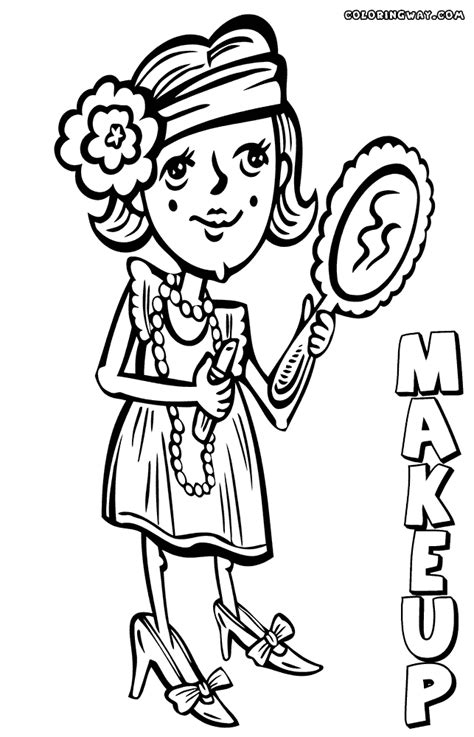 makeup coloring pages coloring pages    print