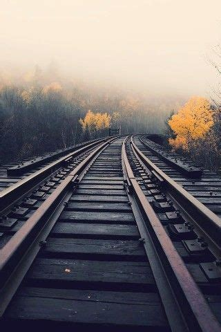 train tracks  fog iphone  wallpaper photoshop