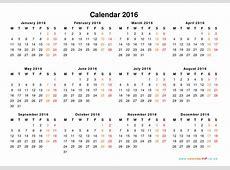 Download Calendar 2016 printable Download 2019 Calendar