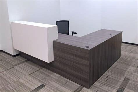 custom reception desk reception desks bernards office furniture woodland