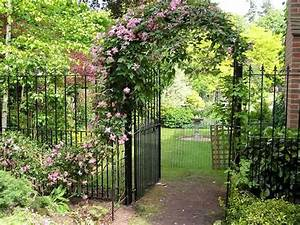 Arche De Jardin En Fer Forgé : portillon de jardin 50 id es pour votre ext rieur ~ Premium-room.com Idées de Décoration