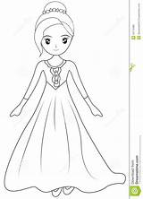Coloring Gown Sleeve Dresses Illustration Drawings Designlooter Dreamstime 1300px 88kb sketch template