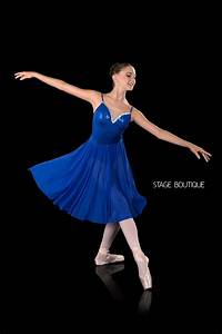 Lyrical Ballet Dress: Mood, Royal Blue Dance Costume