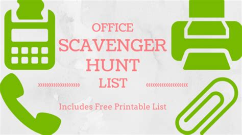 Halloween Treasure Hunt Clues Free by Download Amp Print A Free Office Scavenger Hunt List