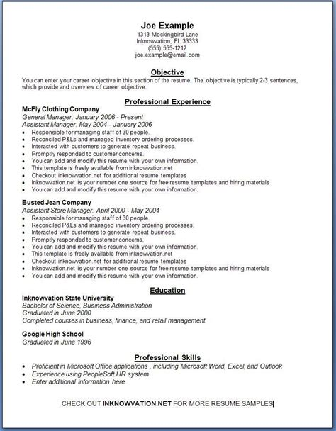 Need A Resume For Free by Free Resume Sles We Present You A Collection Of