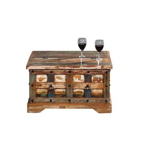 Es gibt viele wege und techniken. Couchtisch Truhe Delhi I Recyceltes Holz Shabby Chic Tisch ...