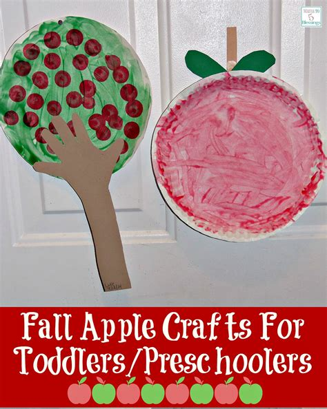 fall apple crafts for toddlers preschoolers 315 | apple crafts main