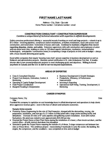 construction consultant resume template premium resume