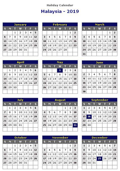 malaysia calendar template excel word public holidays