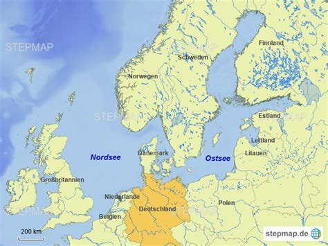 Ostsee Nordsee Karte