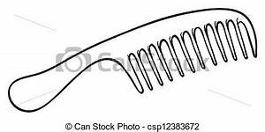 Vectors Illustration Of A Hair Brush Illustration Of A