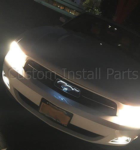 mustang light up pony emblem led light up pony white emblem front radiator grille grill
