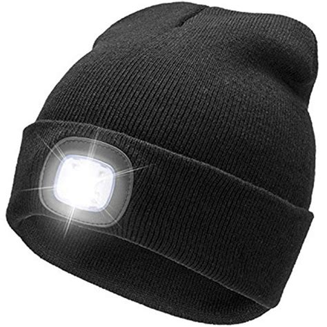 hat with light built in beanie hat with built in rechargeable led lights tanga