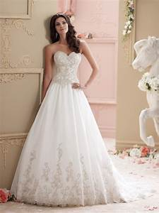 strapless organza ball gown wedding dress With pics of wedding dresses