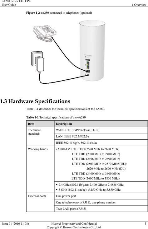 Huawei Technologies EA280-135 LTE CPE User Manual eA280