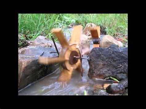 simple water wheel youtube