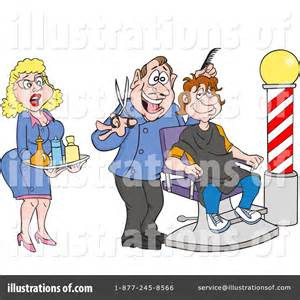 Barber Clipart #1218556 - Illustration by LaffToon