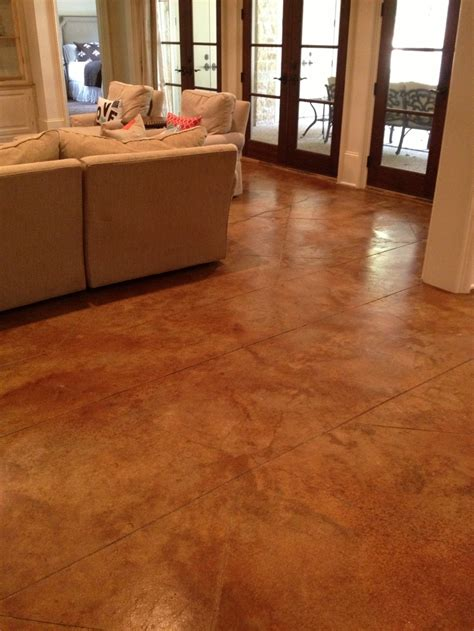 house plans with finished basement stained concrete concrete floors and floors on