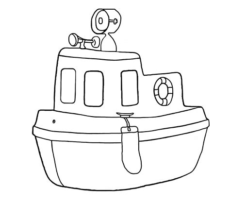 Tugboat Outline by Tug Black And White Clipart Clipart Suggest