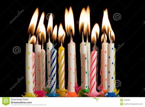 candele di compleanno candele della torta di compleanno fotografia stock