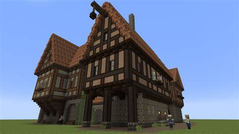 minecraft fachwerkhaeuser   timbered house youtube