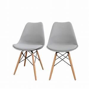 Chaise Bois Design : lot de 2 chaises design nielsen par ~ Teatrodelosmanantiales.com Idées de Décoration