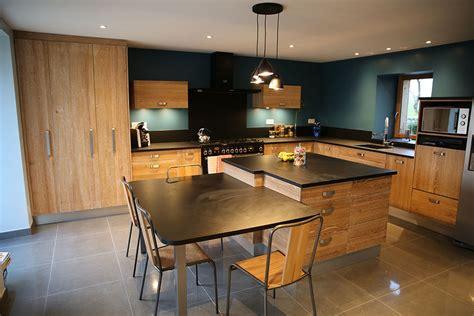 plan cuisine ilot central cuisiniste conception et agencement cuisine sur rennes et