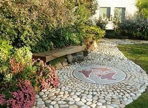 Terrasse En Mosaique : d co jardin avec mosa que en 28 beaux exemples all e ~ Zukunftsfamilie.com Idées de Décoration