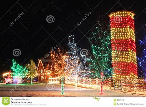 chatfield botanic gardens christmas lights on the farm stock photo image 31697150