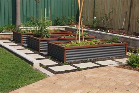 Image Result For Metal And Wood Raised Garden Bed Kit