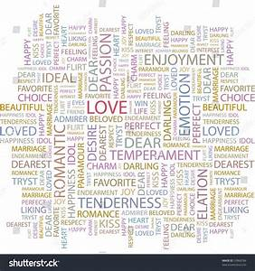 Love. Word Collage On White Background. Vector ...