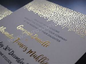 Hot foil printed wedding invitations and stationery for Gold foil printing wedding invitations uk