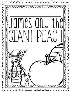 James and the Giant Peach Coloring Page or Book Cover