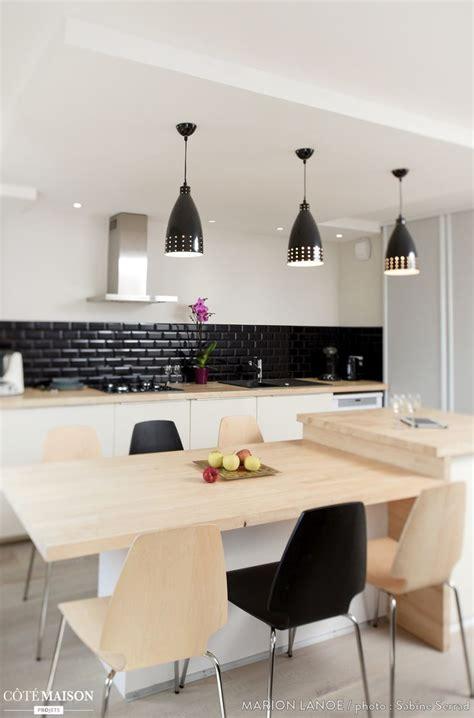table ilot de cuisine cuisine ouverte haute de gamme plan collection et cuisine