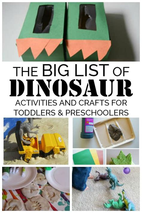 the big list of dinosaur crafts and activities for 872 | Big List of Dinosaur Activities