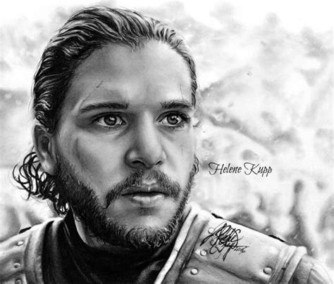 jon snow pencil drawing  helene kupp