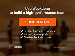 Use Weekdone to build a