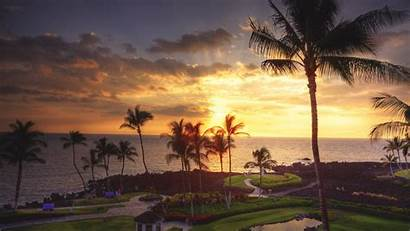 Hawaii 4k Sunset Wallpapers Desktop Ultra Hawaiian