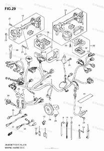 Suzuki Scooters 2007 Oem Parts Diagram For Wiring Harness