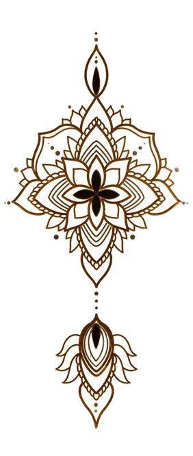 Tatouage Ephemere Mandala Oretargent Kolawi