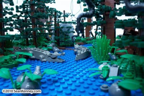 sean kenney art  lego bricks rainforest