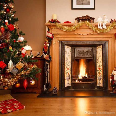 2019 merry christmas fireplace background for kids children indoor photo shoot wallpaper vinyl