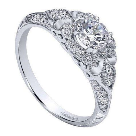 14k white gold 76cttw ornate vintage style diamond engagement r mullen jewelers