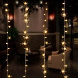 Solar Christmas String Lights Curtain Lights Agptek 9 8ft X 9 8ft Solar String Lights
