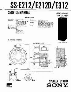 Sony Ss-e212  Ss-e212d  Ss-e312 Service Manual