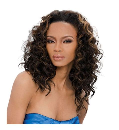 outre quick weave synthetic half wig curly style ebay