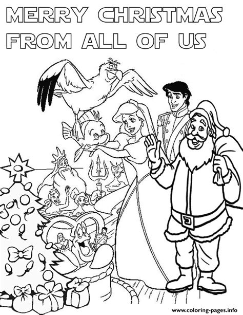 disney princess christmas coloring pages printable
